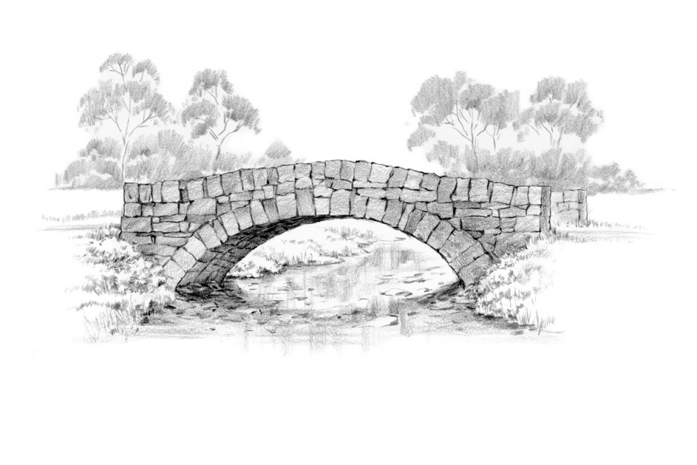 Old Stone Bridge Drawing For Stone Bridge Drawing